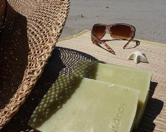 Aloe Aloe - cool soothing aloe vera cucumber natural soap plus beautiful postcard