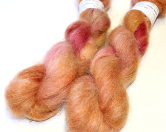 Float kid mohair brushed laceweight yarn