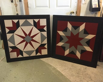 Set of 2 Barn Quilts - 3' size