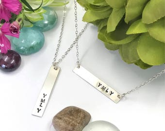 Mothers Day - YMLY - YDLY - Your Daughter Loves You - Necklace - Sterling Silver - 14K - Gold Filled - 16 Inch Chain - 18 Inch Chain