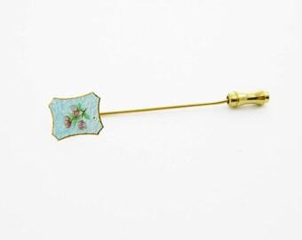 Guilloche Flower Stickpin