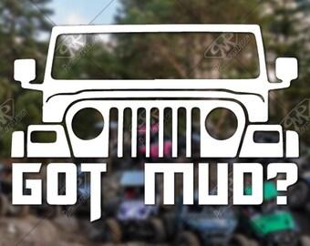 Vinyl Decal, Bumper Sticker, Jeep Sticker