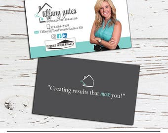 Items similar to printable business card design real estate business business card design real estate business card real estate agent business cards made to match your reheart Choice Image
