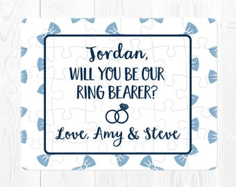 Will You Be My Ring Bearer Puzzle Proposal Ring Bearer Proposal Gift Proposal Will You Be Our Ring Bearer Puzzle Proposal Navy Blue Fun