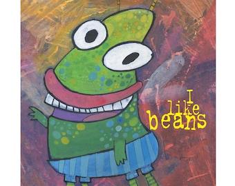 I Like Beans - Digital Print