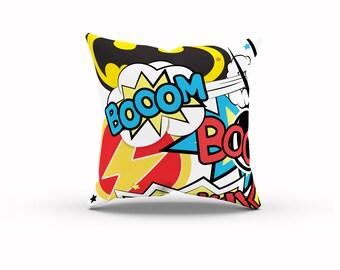 Superhero Pillow, Marvel vs DC, Comic Book Pillow, Superhero Party, Marvel Room Decor, DC Super Hero, Geek Gift, Marvel Birthday, Geek Baby