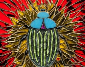 Sun Bug 11x14 Matted Giclée Fine Art Print