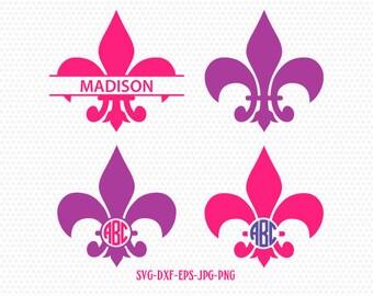 Fleur De Lis SVG, fleur de lis monogram frames svg, fleur de lis clipart svg,, for CriCut Silhouette cameo Files svg jpg png dxf