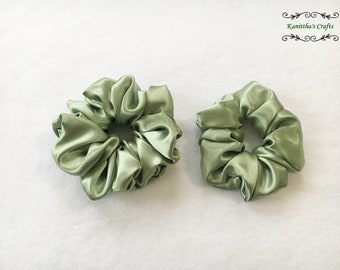 Satin scrunchies Medium - Extra Large,Spring gifts,Ponytail holder,Sstin hair tie accessories,Gift for women,Gift for girl friend