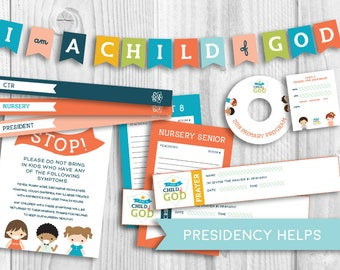 2018 Primary Theme Kit - LDS - presidency organizer - sharing time