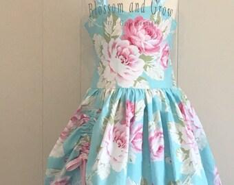 Garden Roses Poppy, Roses, Turquiose, Garden, Girls dresses, Birthday, Special
