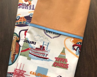 ROUTE 66 PILLOWCASE (can be personalized)
