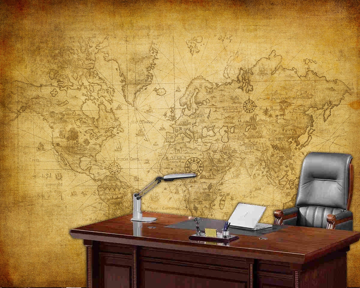 World map wall mural old map of the world repositionable zoom gumiabroncs Image collections