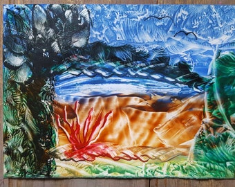 was wax encaustic picture fantasy painting