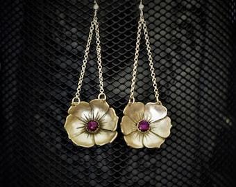 Full Bloom (Sterling Silver & Purple Abalone)