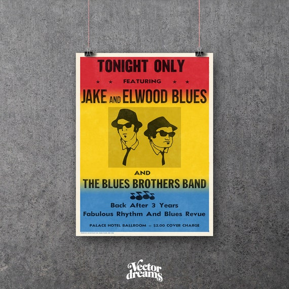 Blues Brothers Replica Concert Poster Movie Poster Prop Wall