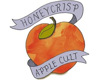 Apple Temporary Tattoo - Honeycrisp Apple Cult - Foodietoos - Foodie Tattoos
