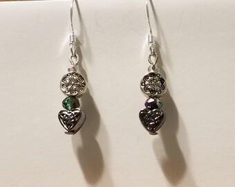 Celtic Heart beaded earrings