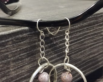 Sterling Silver & Ocean Jasper earrings