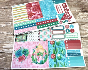 BIG Happy Planner Planner Stickers - Weekly Planner Sticker Set - Happy Planner - Day Designer - Functional stickers - Summer Succulent