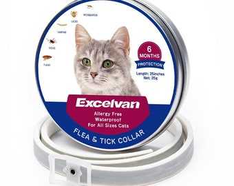 Excelvan waterproof flea & tick collar for cat  6 months protection