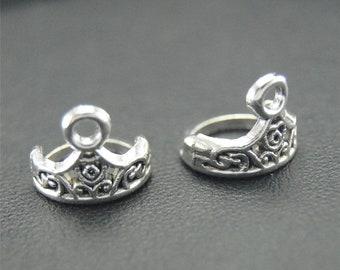 30pcs Antique Silver Crown Charms Pendant A1792