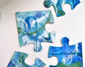 UNIQUE 4 piece Resin Puzzle