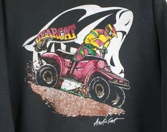 Rare Vintage 90s Arctic Cat Crewneck Pullover Sweater Sweatshirt ATV Snowmobile Sportswear Fruit of The Loom Made in USA