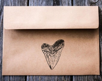 Shark Tooth Rubber Stamp ( 2 x 3 Inches ) - Southern Rubber Stamp