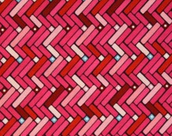 "End of Bolt - 18""Fabric - Happy Hearts - Happy Chevron Fabric by Adornit Fabrics - 100% Cotton"