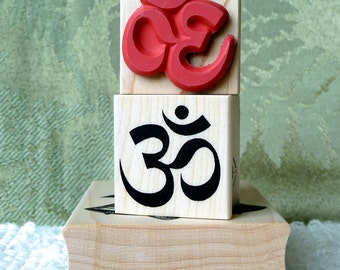 Om Symbol rubber stamp from oldislandstamps