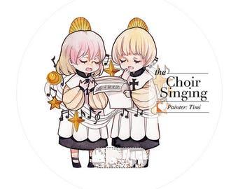 Choir Singing Washi Tape -- Masking Washi Tape -Deco tape-- 43mm x10M
