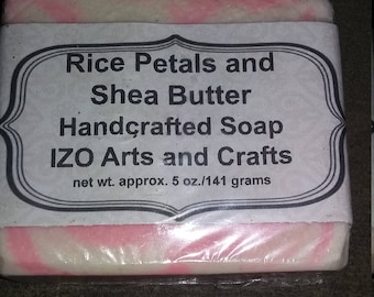Rice Petals and Shea Butter Cold Process Goat Milk Soap