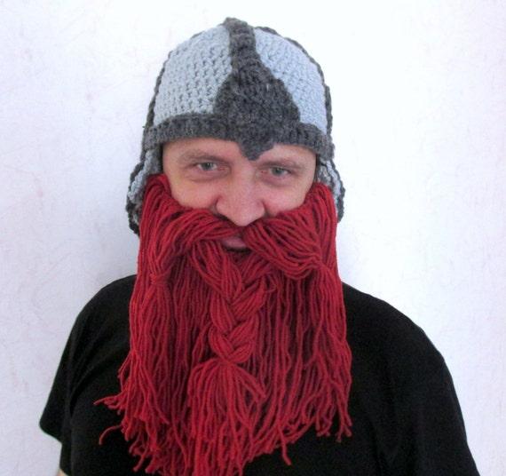 Crochet Viking Hat Pattern Crochet Beard Hat Pattern Adult Size