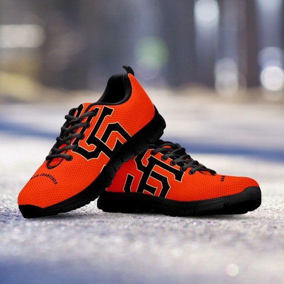 Mens Sole Black Sneakers Orange San Running Unofficial Shoes Sizes Trainers Fan Francisco Ladies Kids Giants Custom 8UR80wOq