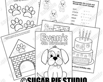 dog coloring pages pdf | Dog coloring page | Etsy