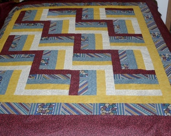 Rail Fence Twin Quilt
