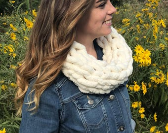 Cowl Scarf - Chunky Scarf - Chunky Knit Scarf - Gift for Her - Neck Scarf