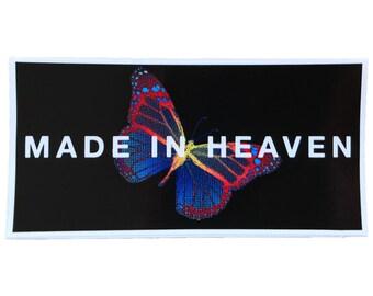 Made In Heaven die-cut butterfly sticker
