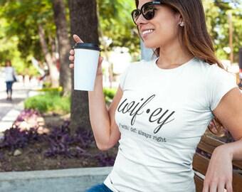 Hubby Wifey Shirts, Wifey Hubby Shirts, Fiance Shirt ,Honeymoon Clothes, Wifey Tee Shirt, Wifey Definition Tshirt, Wifey Shower
