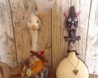 Gourd Wedding Cats