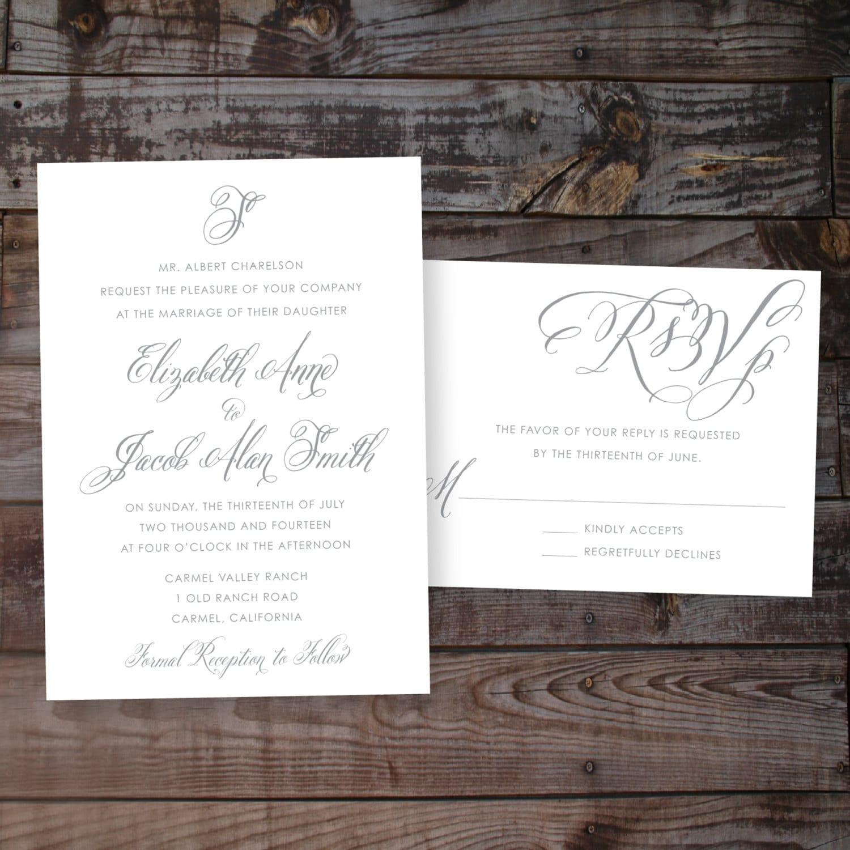 Wedding Invitation Templates Printable Wedding Invitations