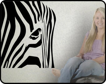 large ZEBRA Vinyl Wall Decal Sticker - classy touch in any decor