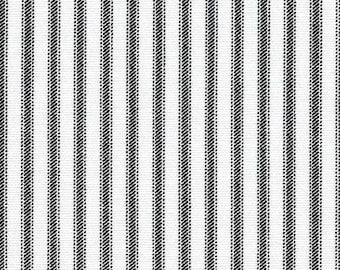 Home Decor Fabric | Classic Black White Ticking Stripe | Premier Prints