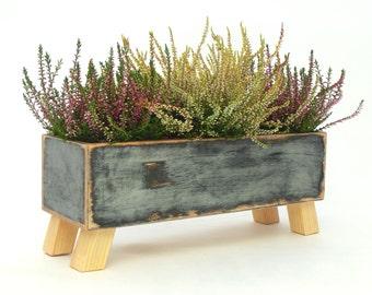 Wooden herb planter, Windowsill Flowerpot, Box for Herbs, Handmade box, Indoor herb garden, Trends for home decor, Winter home garden, Xmas