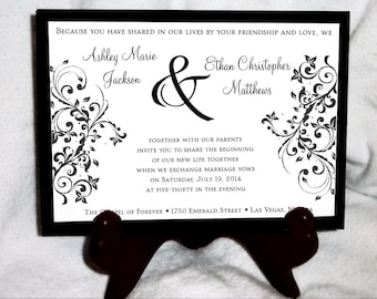 1800 Pieces Damask Swirl Ultimate Set Wedding Invitations, RSVP's, Reception Insert w/ FREE Calendar Stickers