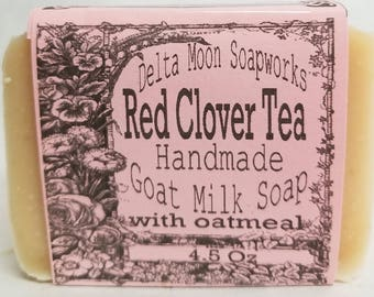 Goat Milk Soap , ready to ship, gift for her, soaps, birthday gift, best friend gift, honey,  A rhyme for our Favorite Red Clover tea Soap,