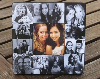 Best Friends Photo Collage Frame, Personalized Sister, Bridesmaid Gift, Custom Collage Maid of Honor Frame, Unique Birthday, Graduation Gift