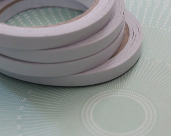 """10 Double Sided Tapes - 3/8"""" - 8mm Wide - Strong Tacky Tape Similar to Scor Tape for Scrapbook Etc - 180M - 590 Feet  - TT01b"""
