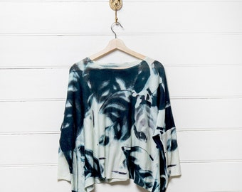 Printed Wool Box Jumper - Botanica
